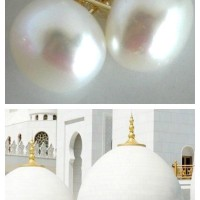 14kyg white pearl studs Collage