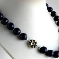 Eldora lapis pyrite necklace a