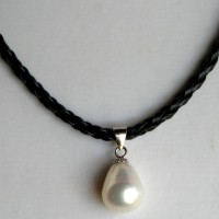 Pearl drop on leather feb 15 ona