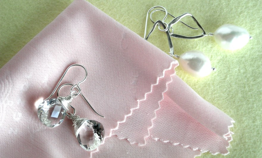 cleaning cloths earrings