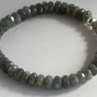 labradorite faceted stretch bracelet