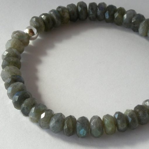 labradorite faceted stretch bracelet da
