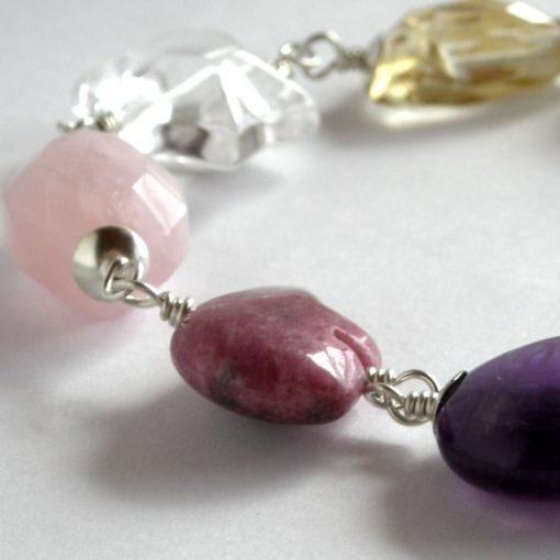 mixed gem bracelet pastel 004 da