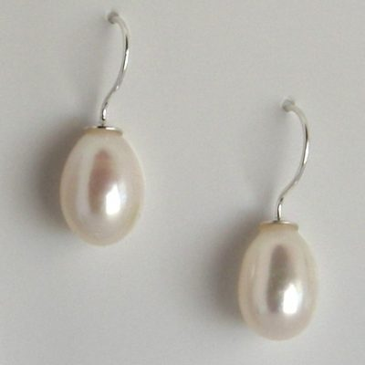 pearl one piece drop earrings da