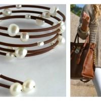 brown wrap earrings Collage