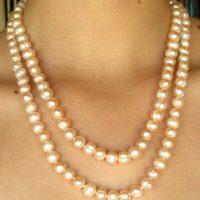 peach pearl strand doubled a