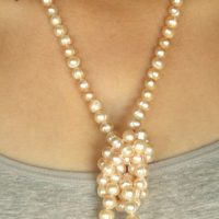 peach pearl strand knotted a