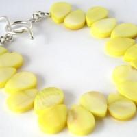 yellow mop bracelet a