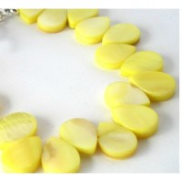 yellow mother of pearl shell bracelet Collage