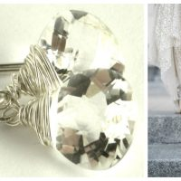 Glittering rock crystal quartz and sterling silver earrings to bring glamour into your day or night