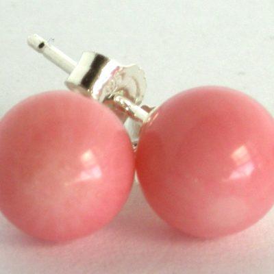 pink coral studs da