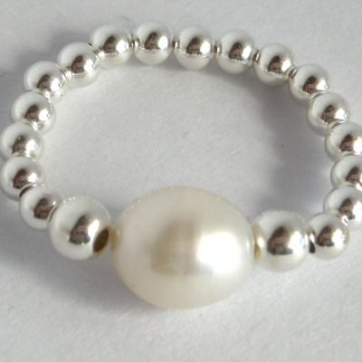 sterling pearl ring 3mm a