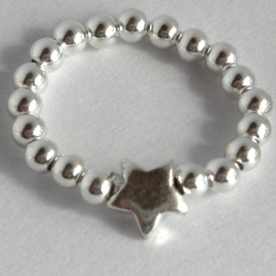 sterling star ring 3mm a