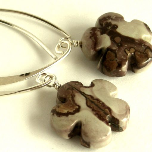 picture jasper long hook earrings da