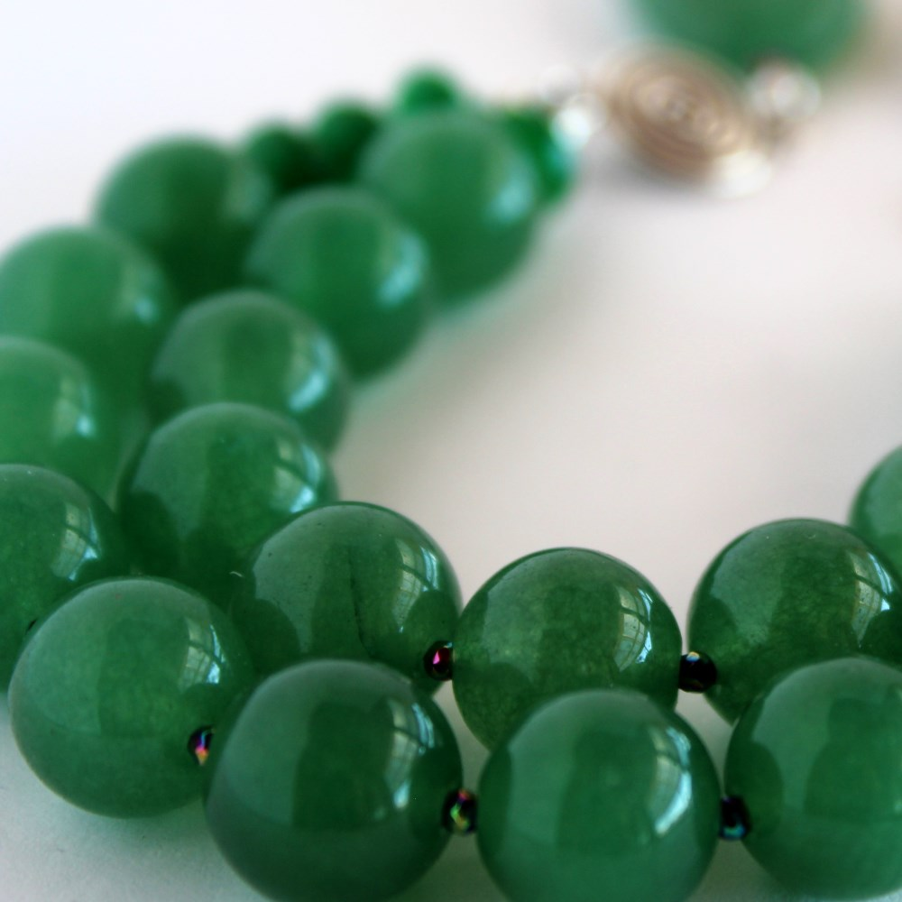 natural jade inch new other grade pcs necklace jadeite green oil p a price s beads lowest